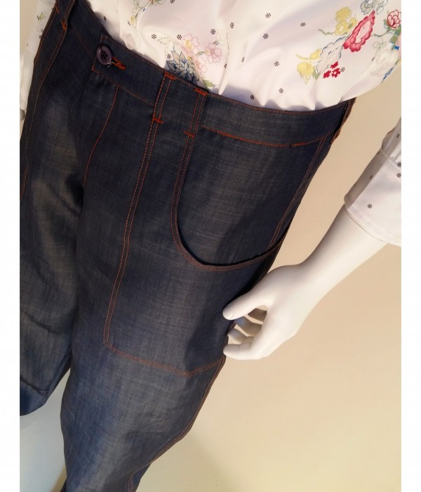 Pantaloni da tango, swing, vintage, rock'n'roll, boogie woogie ViolaClandestina Bio - particolare tascone frontale